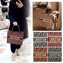 Christian Dior Canvas Elegant Style Totes
