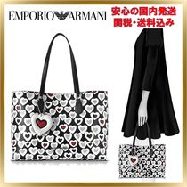 EMPORIO ARMANI Heart Casual Style Bag in Bag Plain Totes