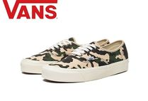 VANS AUTHENTIC Camouflage Casual Style Unisex Low-Top Sneakers