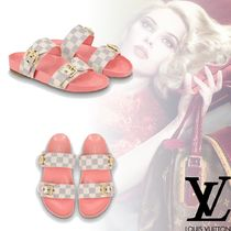 Louis Vuitton Open Toe Platform Elegant Style Platform & Wedge Sandals
