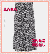 ZARA Flower Patterns Casual Style Long Maxi Skirts
