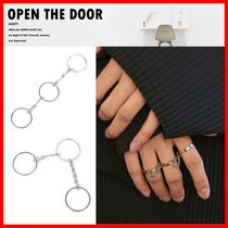 OPEN THE DOOR Unisex Street Style Rings