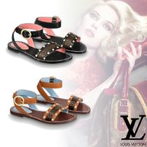 Louis Vuitton Monogram Open Toe Platform Elegant Style