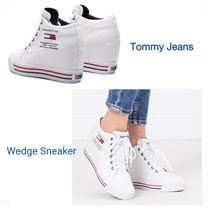 Tommy Hilfiger Lace-up Casual Style Platform & Wedge Sneakers