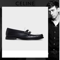 CELINE Moccasin Plain Leather Loafers & Slip-ons