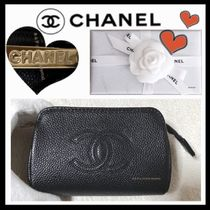 CHANEL ICON Unisex Plain Wallets & Small Goods