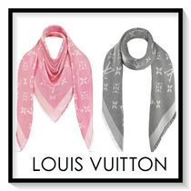 Louis Vuitton Monogram Silk Fringes Elegant Style
