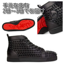 Christian Louboutin LOUIS Studded Street Style Leather Sneakers