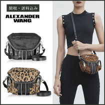 Alexander Wang Leopard Patterns Casual Style Shoulder Bags