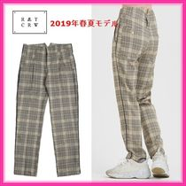 ROMANTIC CROWN Slax Pants Tartan Unisex Slacks Pants