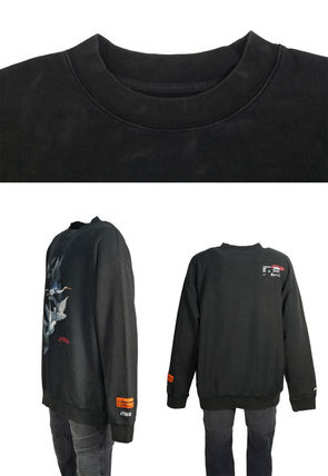 Heron Preston Sweatshirts Crew Neck Pullovers Street Style Long Sleeves Plain Cotton 2