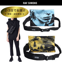 RAF SIMONS Unisex Street Style Collaboration Plain Hip Packs