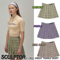 SCULPTOR Other Check Patterns Street Style Skirts