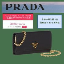 PRADA SAFFIANO LUX Saffiano Collaboration 2WAY Office Style Shoulder Bags