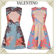 VALENTINO Short Flower Patterns Sleeveless Home Party Ideas