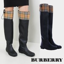 Burberry Other Check Patterns Rubber Sole Rain Boots Boots
