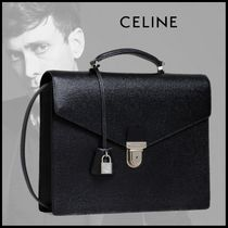 CELINE A4 2WAY Plain Leather Business & Briefcases