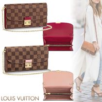Louis Vuitton DAMIER Croisette Chain Wallet