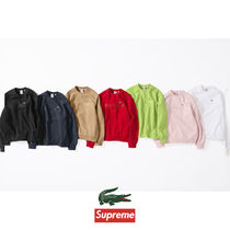 Supreme Street Style Collaboration Sweatshirts