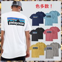 Patagonia Crew Neck Unisex Street Style Cotton Short Sleeves
