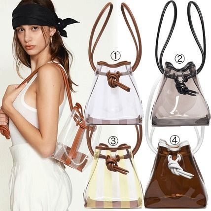Casual Style Plain Leather Purses Shoulder Bags