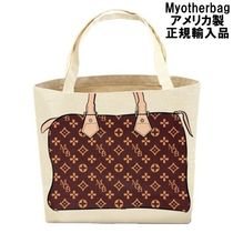 My Other Bag Unisex Canvas Street Style A4 Handmade Totes