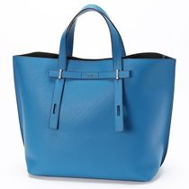FURLA Unisex Street Style A4 Leather Totes