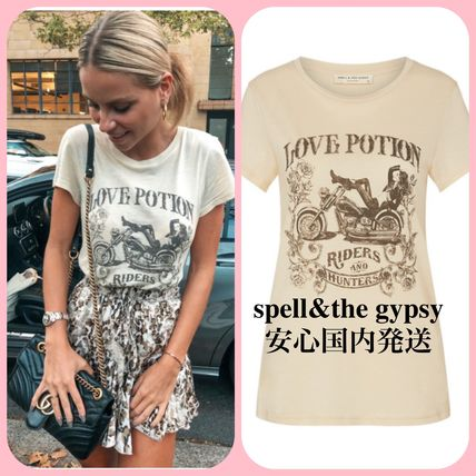 fc6002f489ab SPELL Crew Neck Street Style Cotton Medium Short Sleeves T-Shirts by ...