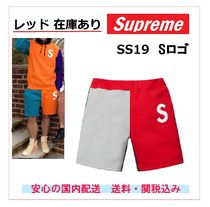 Supreme Unisex Sweat Street Style Plain Shorts