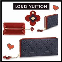 Louis Vuitton MONOGRAM EMPREINTE Monogram Calfskin Plain Long Wallets