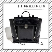3.1 Phillip Lim Casual Style Street Style 2WAY Plain Leather Backpacks