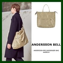 ANDERSSON BELL Unisex Nylon Street Style A4 Plain Bags