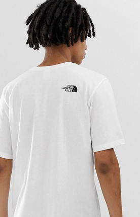 THE NORTH FACE Crew Neck Crew Neck Pullovers Street Style Plain Cotton Short Sleeves 7