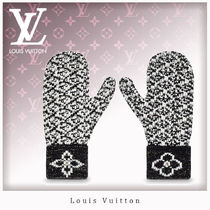Louis Vuitton Wool Leather & Faux Leather Gloves