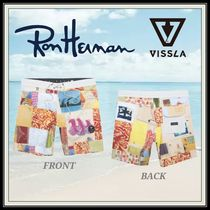 Ron Herman Tropical Patterns Blended Fabrics Street Style