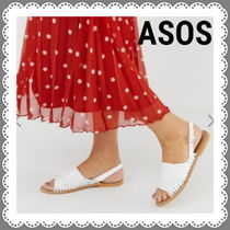 ASOS Open Toe Casual Style Plain Leather Sandals