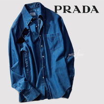 PRADA Denim Plain Shirts
