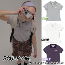 SCULPTOR Casual Style Street Style Cotton Polo Shirts