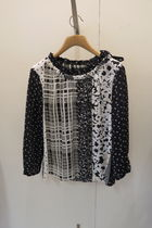 Weekend Max Mara Other Check Patterns Flower Patterns Silk Long Sleeves