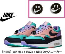 Nike AIR MAX 1 Casual Style Spawn Skin Blended Fabrics Low-Top Sneakers