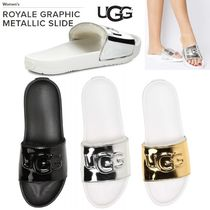 UGG Australia Open Toe Casual Style Sheepskin Plain Sport Sandals