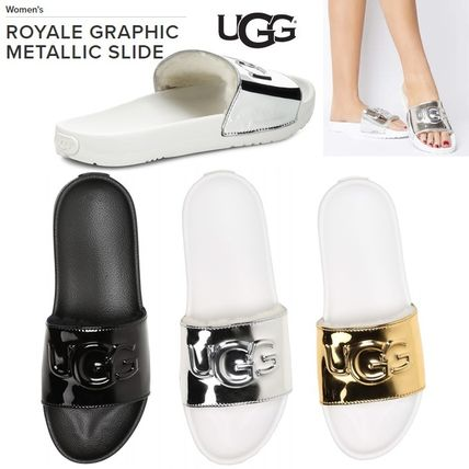 95c2647b4b8 UGG Australia UGG ROYALE 2019 SS Open Toe Casual Style Sheepskin Plain  Sport Sandals (1101189)