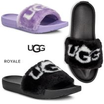 UGG Australia Open Toe Casual Style Faux Fur Plain Sport Sandals