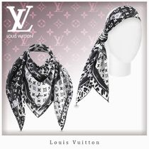 Louis Vuitton MONOGRAM Leopard Patterns Unisex Silk Lightweight Scarves & Shawls