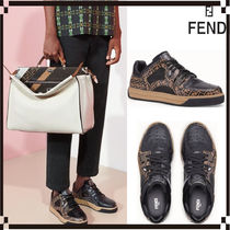 FENDI Collaboration Leather Sneakers