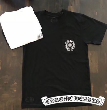 CHROME HEARTS More T-Shirts Unisex Street Style T-Shirts