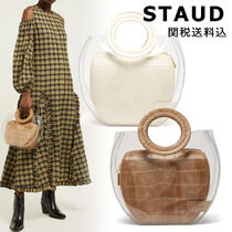 STAUD Casual Style Blended Fabrics Plain Other Animal Patterns