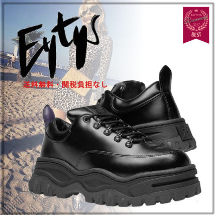 Mountain Boots Unisex Plain Leather Sneakers
