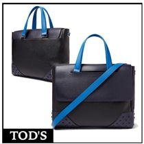 TOD'S 2WAY Plain Leather Business & Briefcases