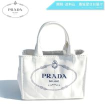 PRADA CANAPA Casual Style 2WAY Plain Handbags